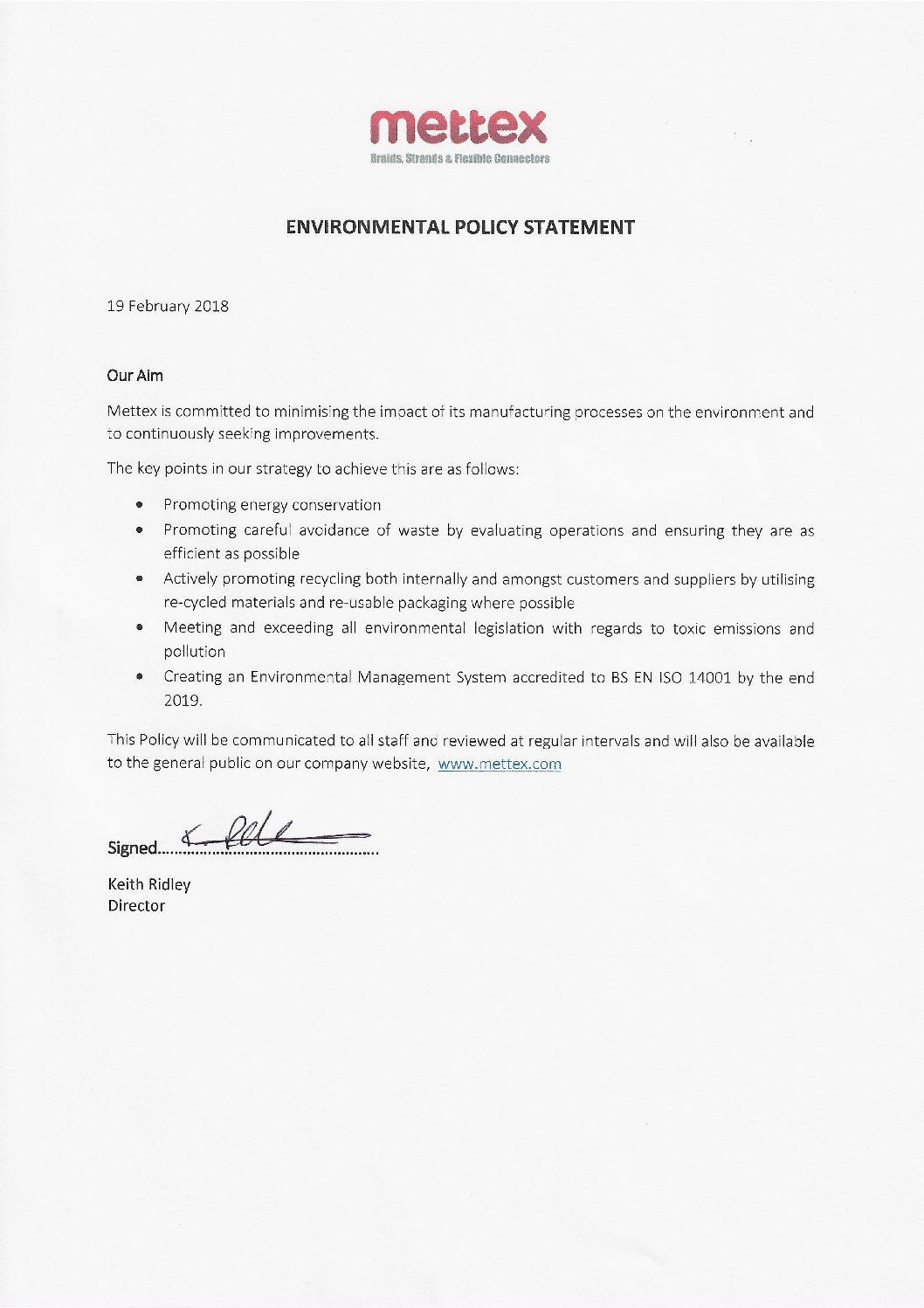 ENVIRONMENTAL-POLICY-STATEMENT-2018-pdf - Mettex